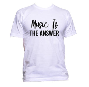 AppleWormDesign • Music is The Answer gift - Men's T-Shirt •