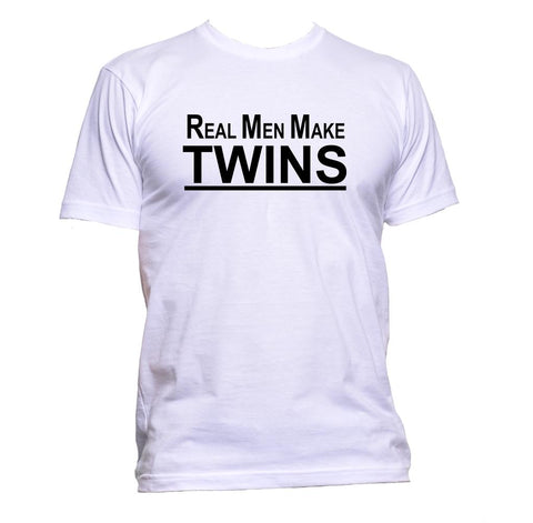 AppleWormDesign • Real Man Make Twins gift - Men's T-Shirt •