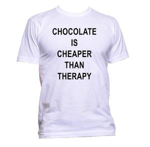 AppleWormDesign • Chocolate Is Cheaper Than Therapy gift - Men's T-Shirt •