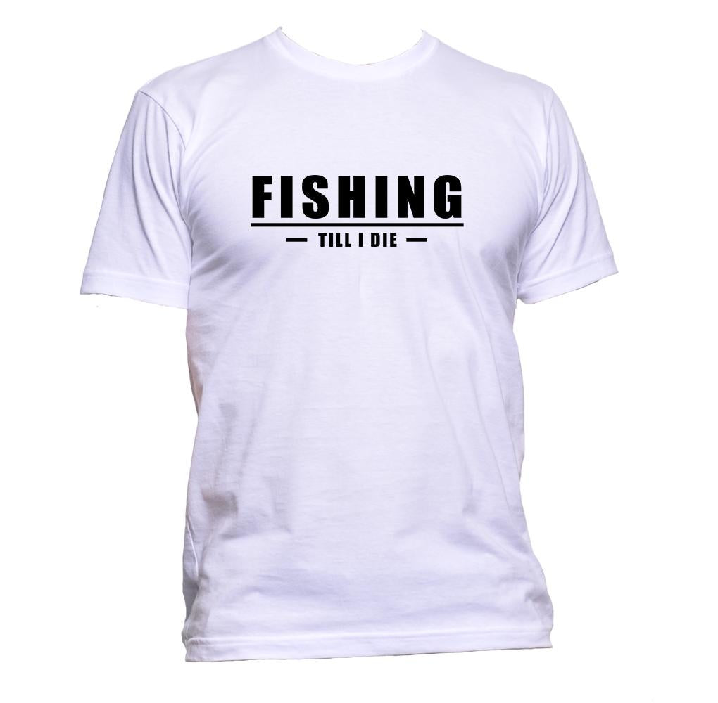 AppleWormDesign • Fishing Till I Die gift - Men's T-Shirt •