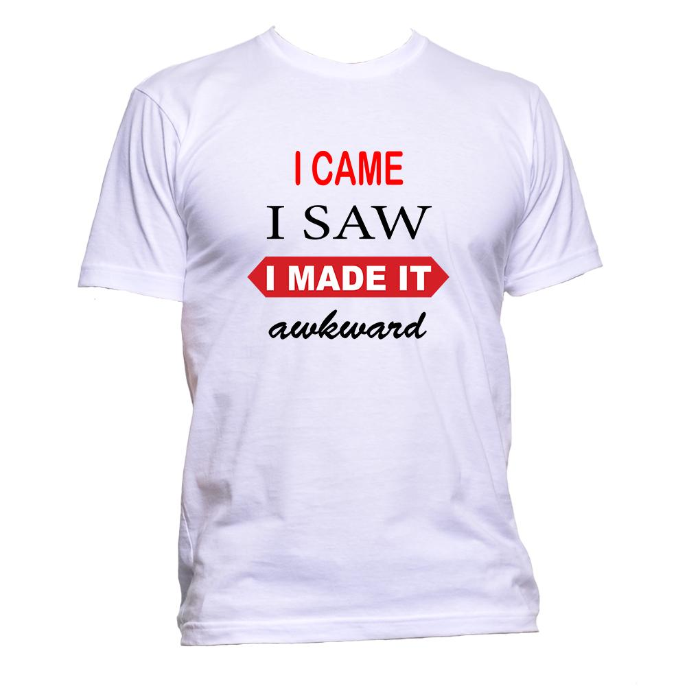 AppleWormDesign • I Came I Saw I Made It Awkward gift - Men's T-Shirt •
