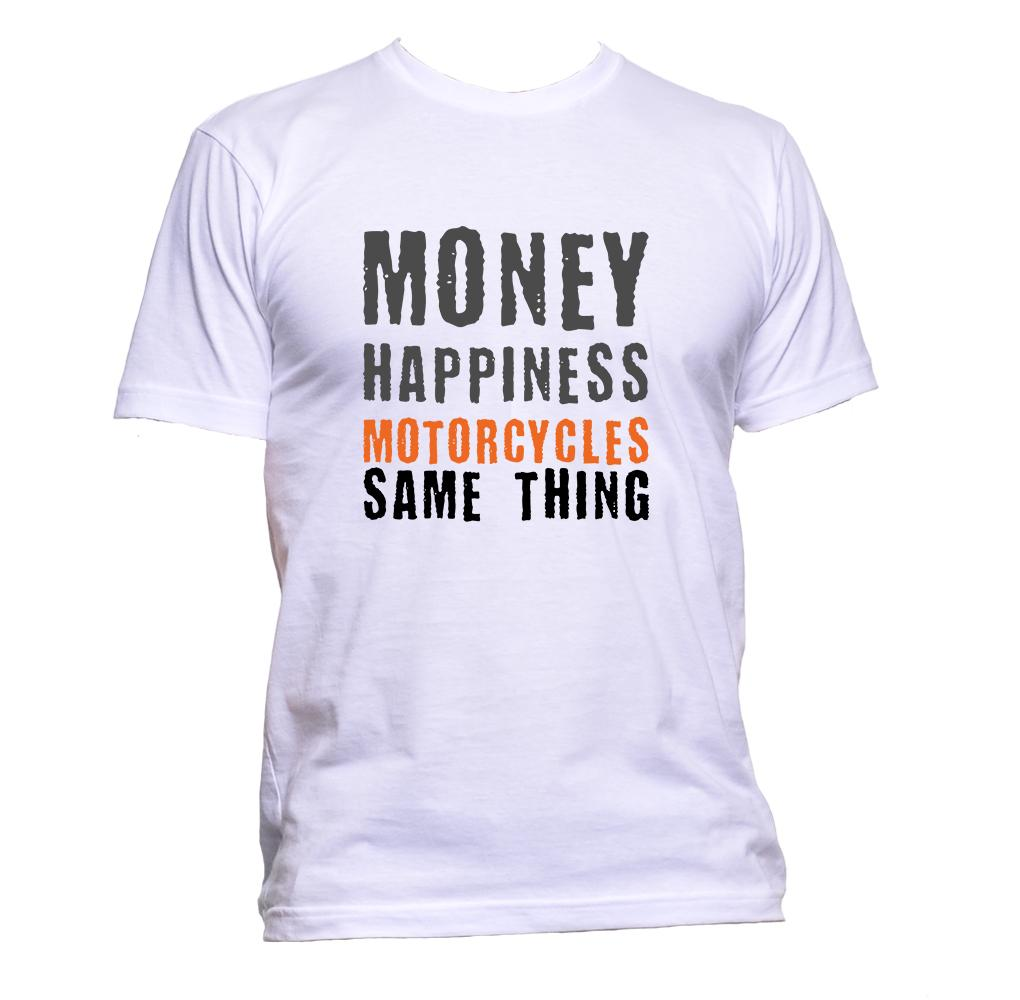 AppleWormDesign • Money Happiness Motorcycles Same Thing gift - Men's T-Shirt •