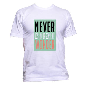 AppleWormDesign • Never Lose Your Sense Of Wonder gift - Men's T-Shirt •