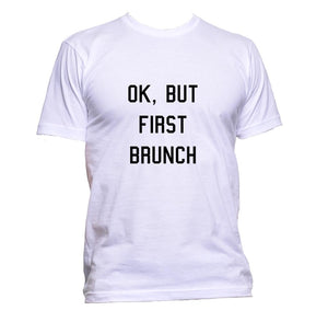 AppleWormDesign • Ok, But First Brunch gift - Men's T-Shirt •