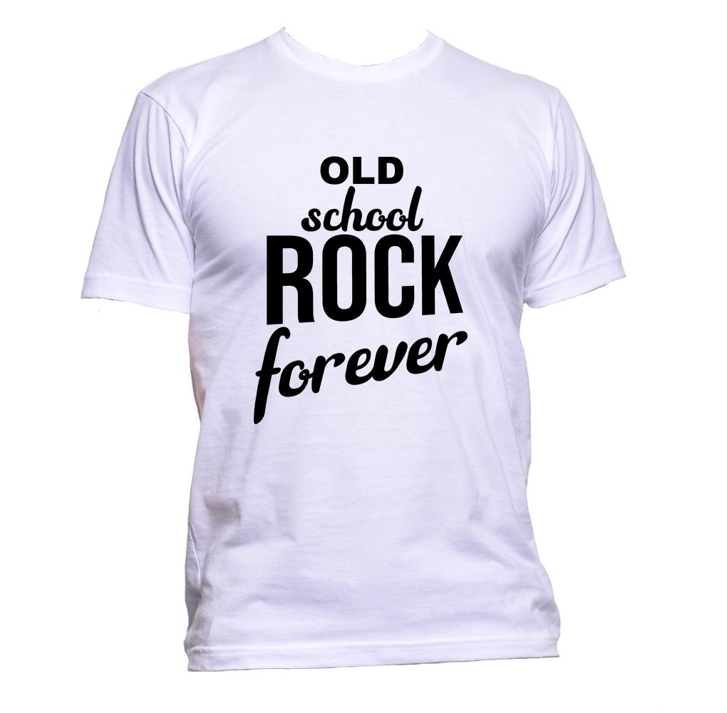 AppleWormDesign • Old School Rock Forever gift - Men's T-Shirt •