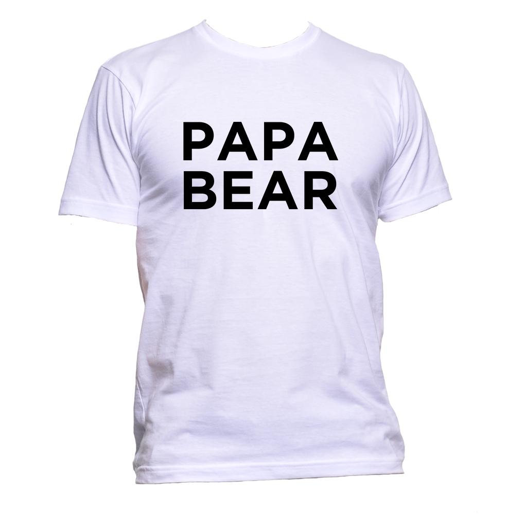 AppleWormDesign • Papa Bear gift - Men's T-Shirt •