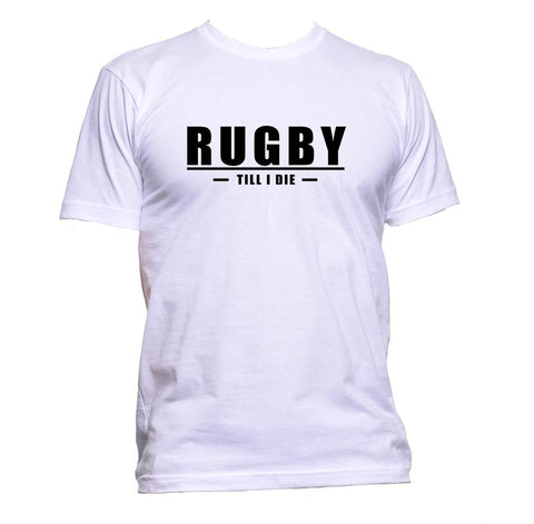 AppleWormDesign • Rugby Till I Die gift - Men's T-Shirt •