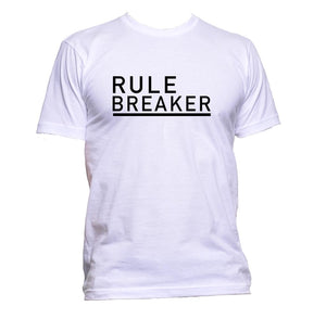 AppleWormDesign • Rule Breaker Black Font gift - Men's T-Shirt •