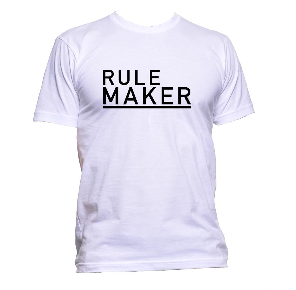 AppleWormDesign • Rule Maker Black Font gift - Men's T-Shirt •