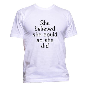 AppleWormDesign • She Believed She Could So She Did gift - Men's T-Shirt •
