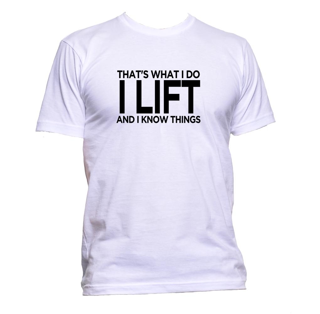 AppleWormDesign • That's What I Do I Lift And I Know Things gift - Men's T-Shirt •