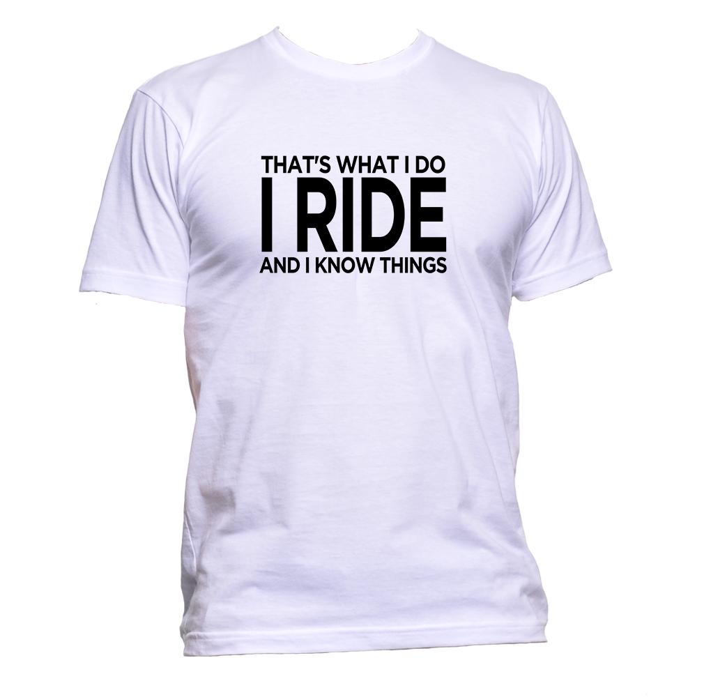 AppleWormDesign • That's What I Do I Ride And I Know Things gift - Men's T-Shirt •