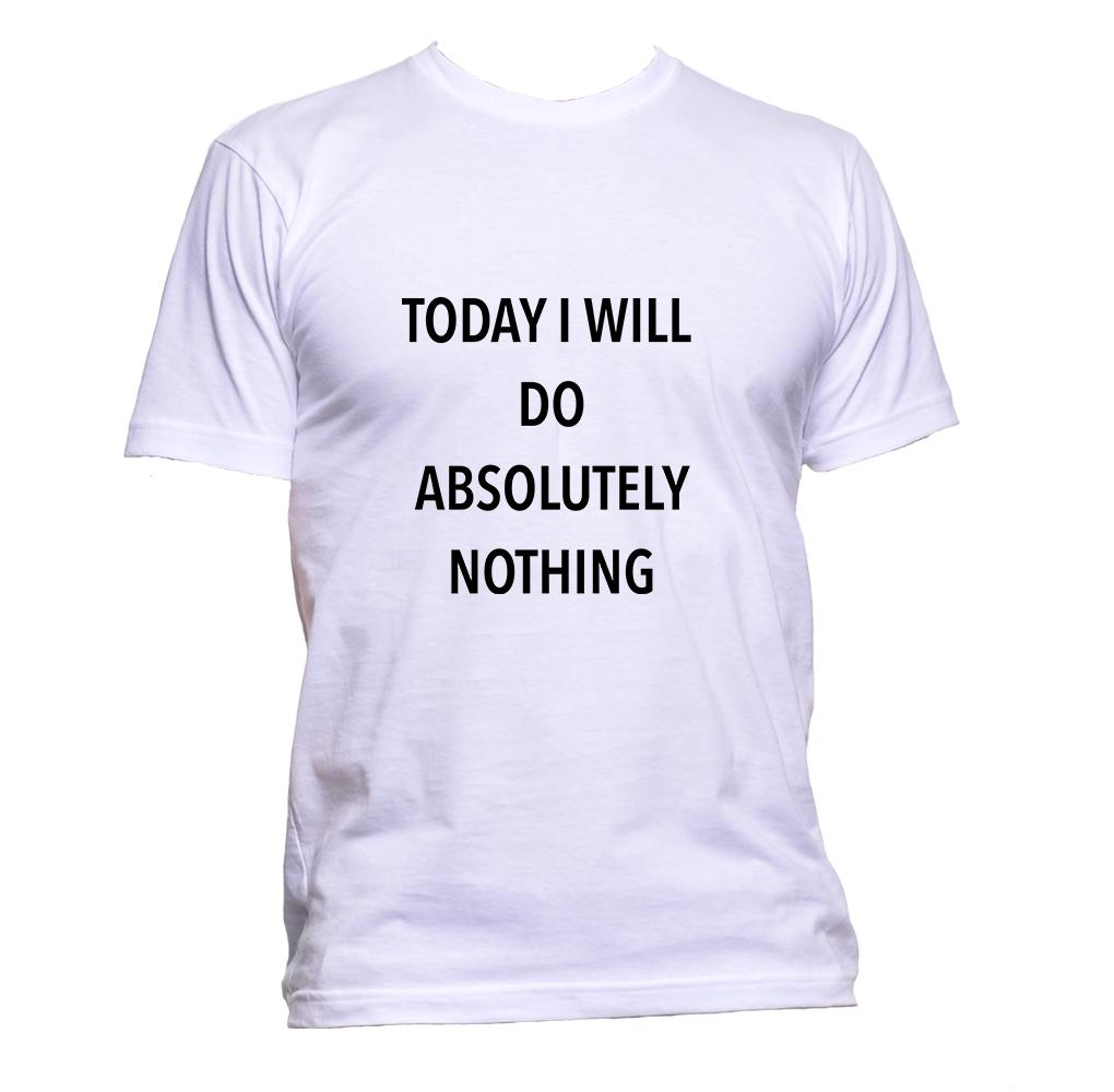 AppleWormDesign • Today I Will Do Absolutely Nothing gift - Men's T-Shirt •