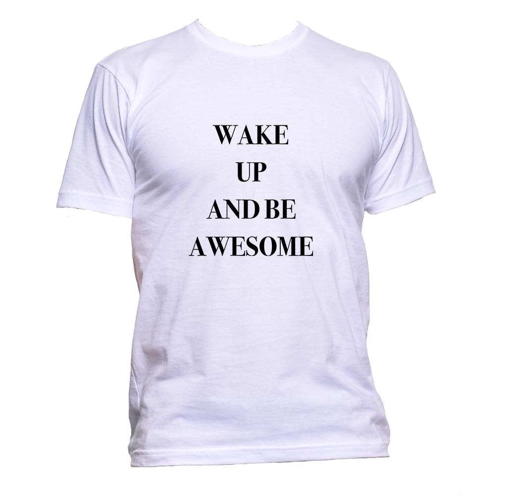 AppleWormDesign • Wake Up And Be Awesome gift - Men's T-Shirt •