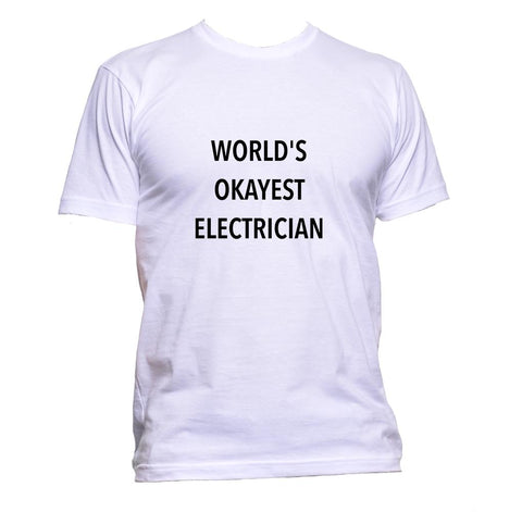 AppleWormDesign • World's Okayest Electrician gift - Men's T-Shirt •
