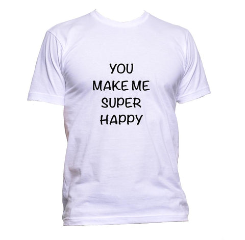 AppleWormDesign • You Make Me Super Happy gift - Men's T-Shirt •