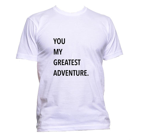AppleWormDesign • You My Greatest Adventure gift - Men's T-Shirt •