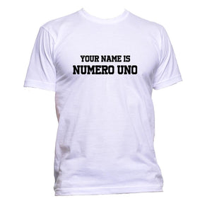 AppleWormDesign • Your Name Is Numero Uno gift - Men's T-Shirt •