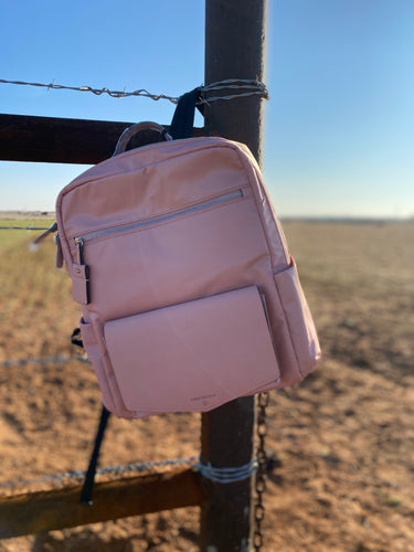 Peek a Boo Backpack in Blush Pink