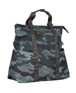 Unisex 3-1 fold over tote in Camo