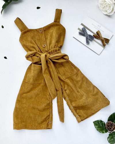 Taylor Suede Jumpsuit - Butterscotch