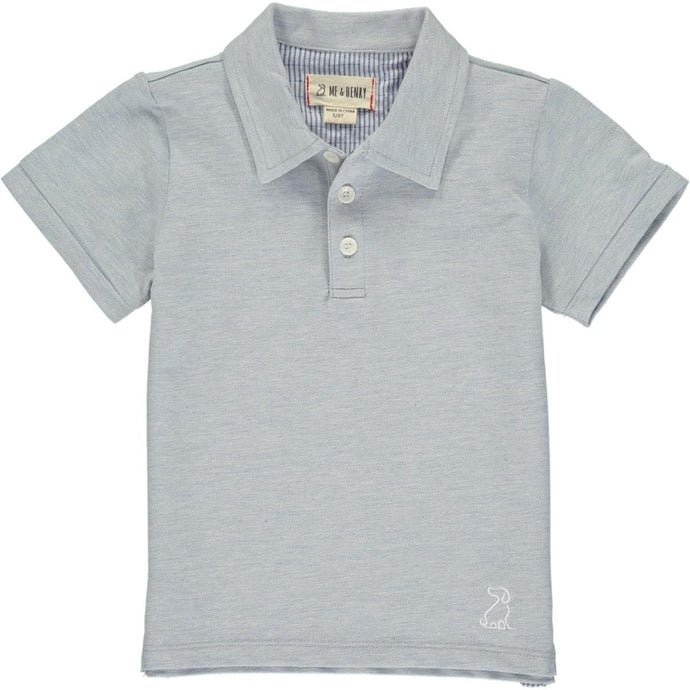 Pale Blue Cotton Polo
