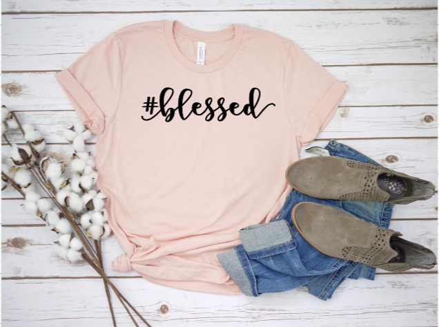 Bella Canvas #blessed Tee