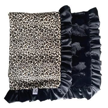 Black Leopard Blanket