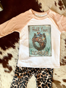 Hold Your Horses Bella Canvas Raglan