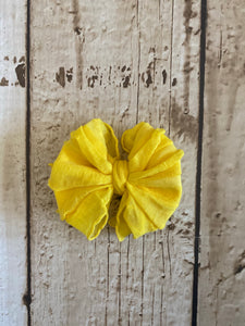 Small Yellow Ruffle Nylon Bow