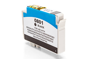Compatible Epson C13T08014011 T0801 Black 330 Page Yield - inksdirect