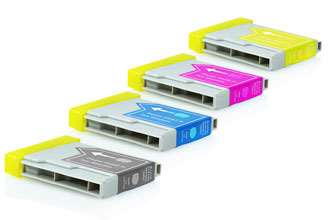 Compatible Brother Multi-Pack LC1000VALBP LC970VALBP  Assorted >500 each Page Yield - Inksdirect