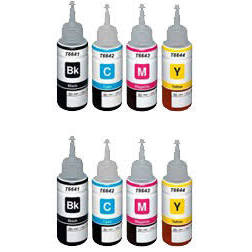 Compatible Epson Ecotank T6641 66XL  Multipack 8PK - Inksdirect