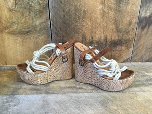 Lanvin Rope Snake Wedges