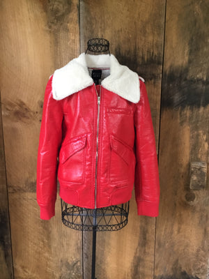 Belle Vere Patent Leather Fur Jacket