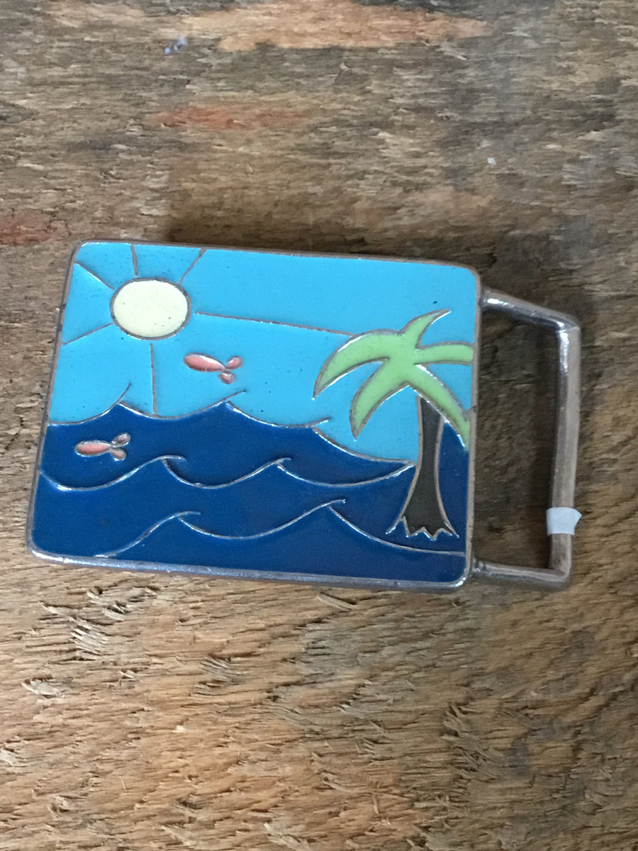 Hand Painted Belt Buckle