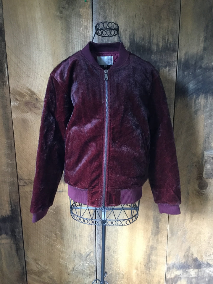 J.O.A Los Angeles Faux Fur Bomber