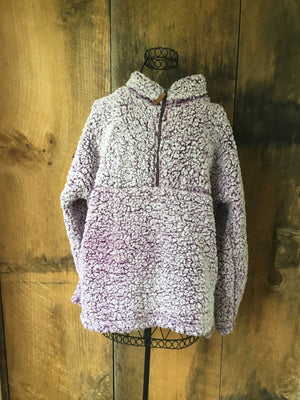 Purple Fuzzy Pullover Fleece