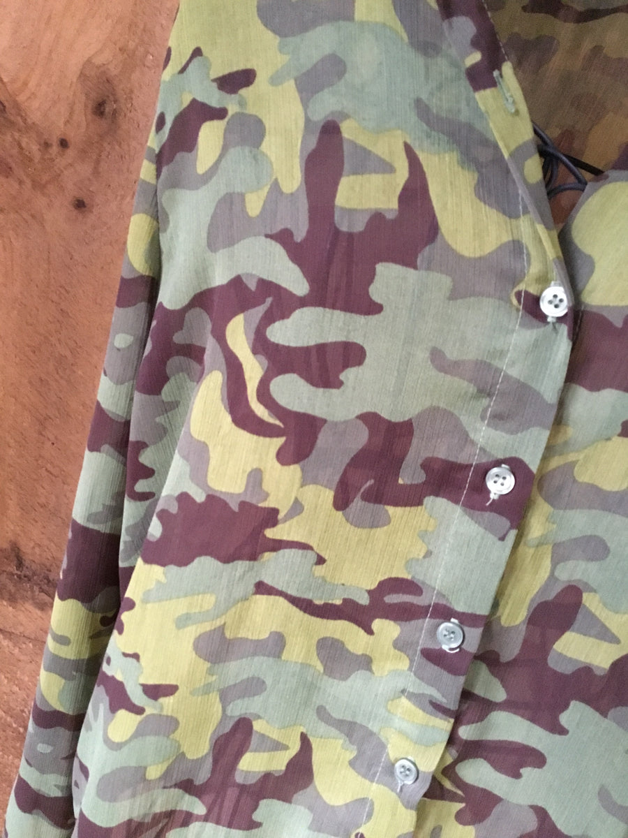 Lei Camouflage Button Down