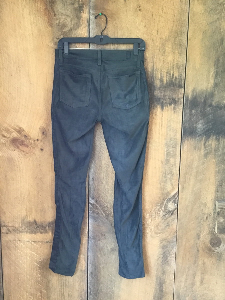 7 For All Mankind Faux Suede Leather Pants