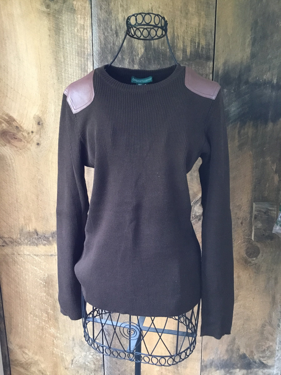Ralph Lauren Leather Accent Sweater