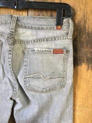 7 For Mankind Gray Jeans