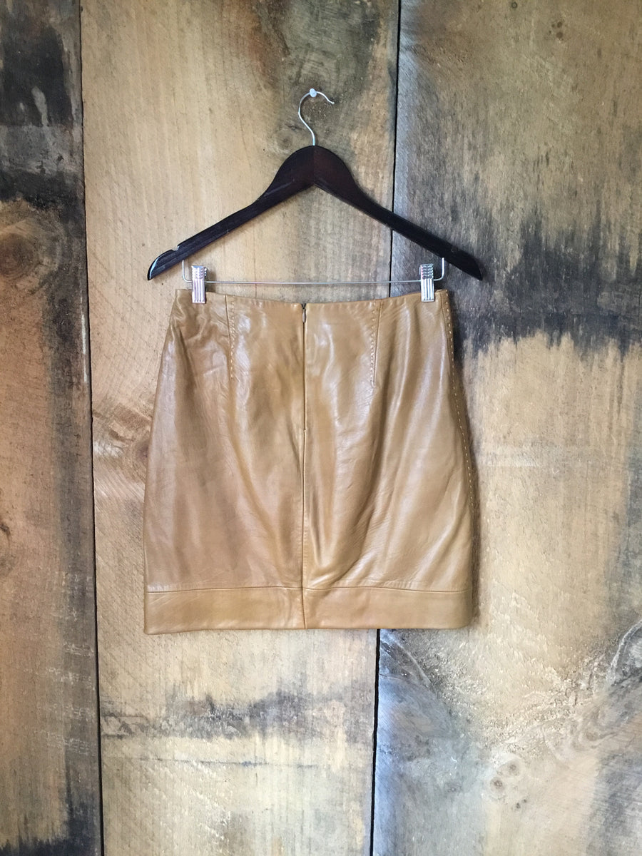 Banana Republic Leather Skirt