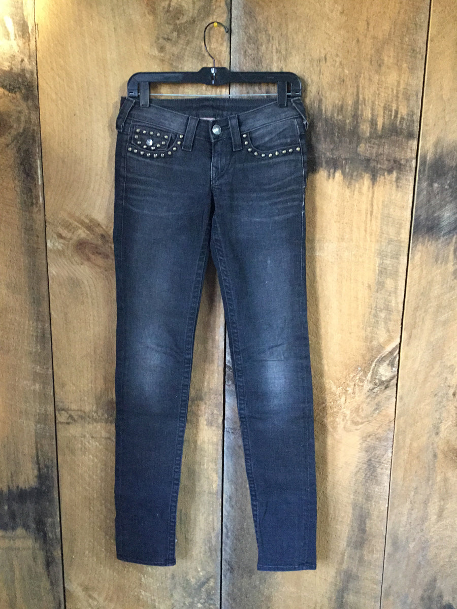 True Religion Black Studded Jeans