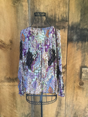 Fire LA Boho Peasant Top