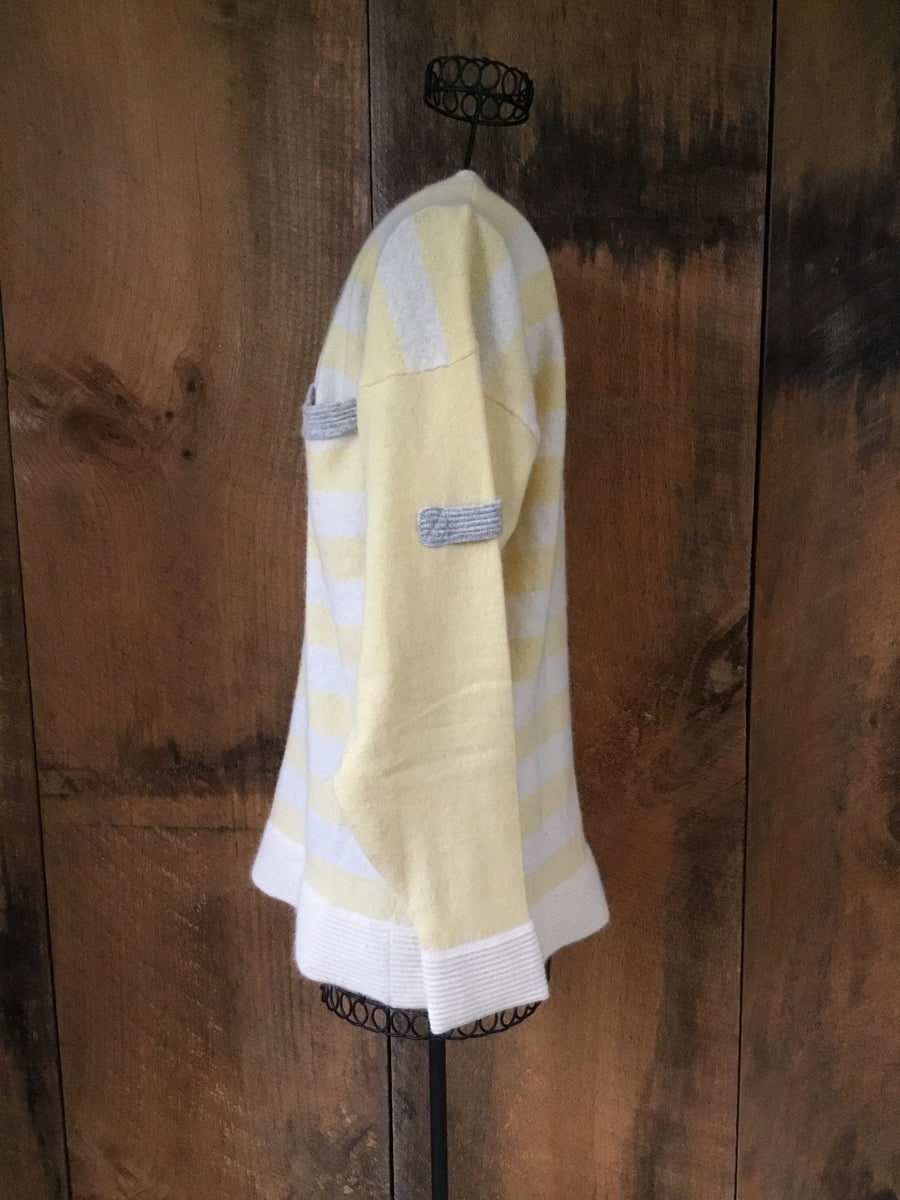 Yellow and Ivory Stripe Sweater