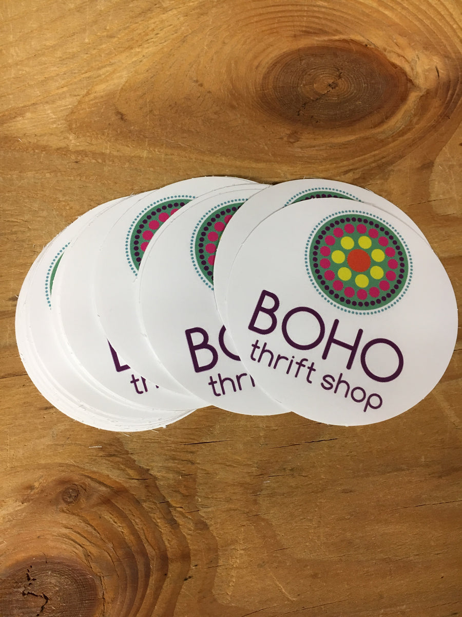 BOHO thrift shop Stickers