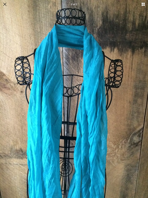 Aqua Long Lightweight Scarf
