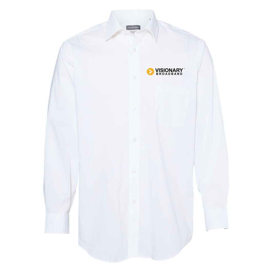 Visionary Broadband - Van Heusen - White Collar Shirt