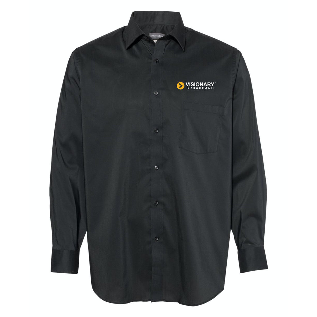 Visionary Broadband - Van Heusen - Black Collar Shirt